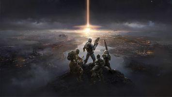 Бесплатные фото апокалипсис,война,взрыв,команда,разрушение,костюм,фантастика