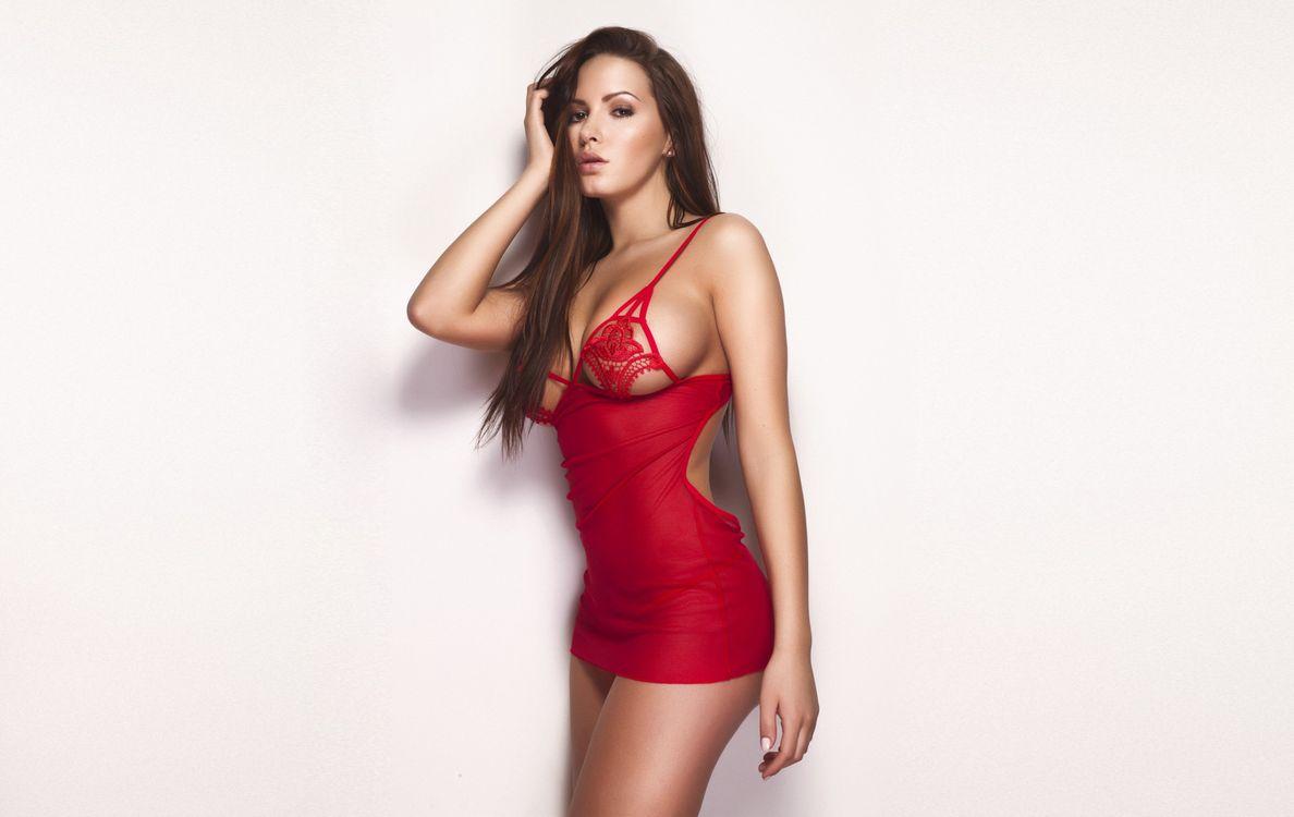 Фото бесплатно красное, платье, девушки - на рабочий стол
