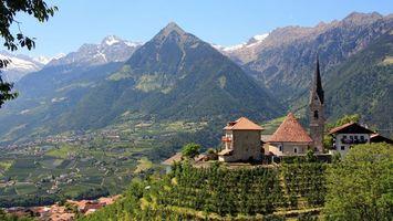 Фото бесплатно долина, деревня, дома