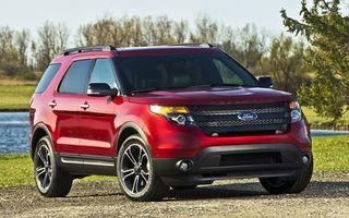 ford, красный, природа, машины