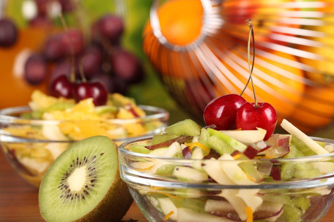 Фото бесплатно фрукты, салат, киви - на рабочий стол
