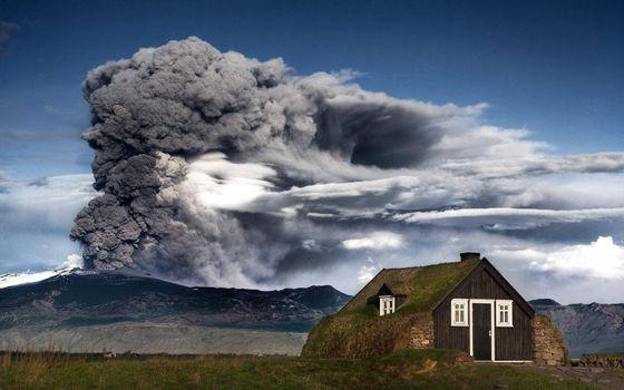 Фото бесплатно извержение, вулкан, пепел