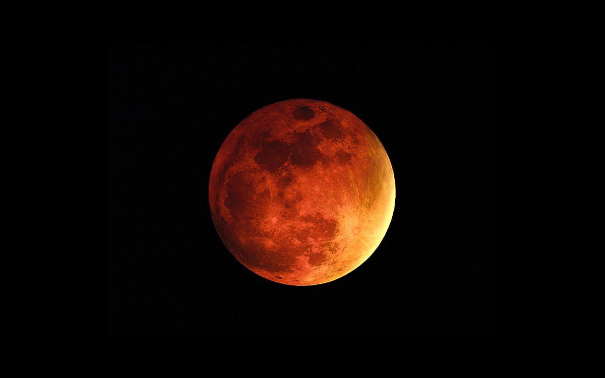 Фото бесплатно красная, луна, спутник, земли, кратеры, следы, столкновения, метеоритов, космос, космос