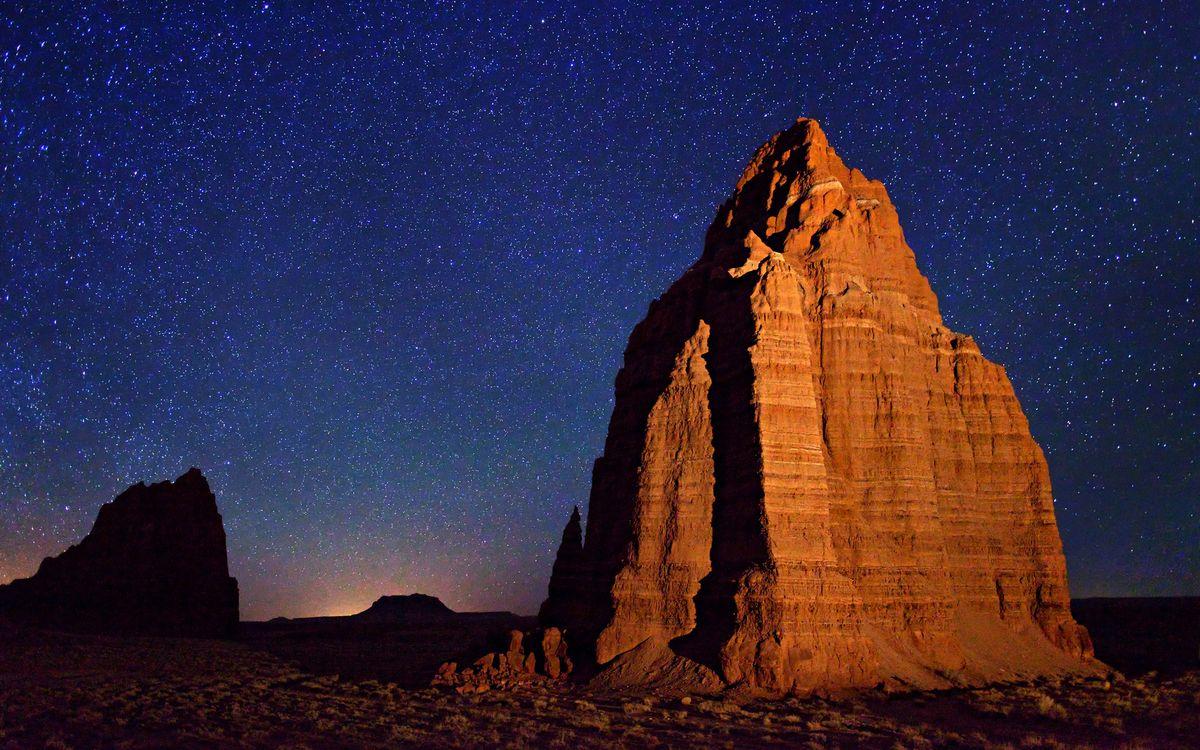 Free photo night, mountain, rock - to desktop