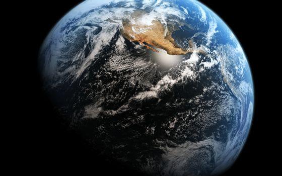 Фото бесплатно планета, земля, материк