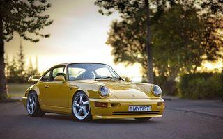 Бесплатные фото porsche,жёлтый,дорога,машины