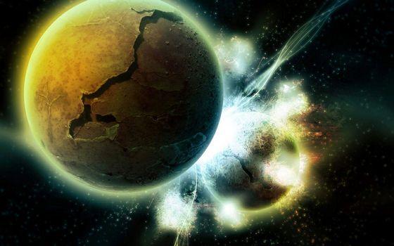 Фото бесплатно столкновение, космос, катастрофа
