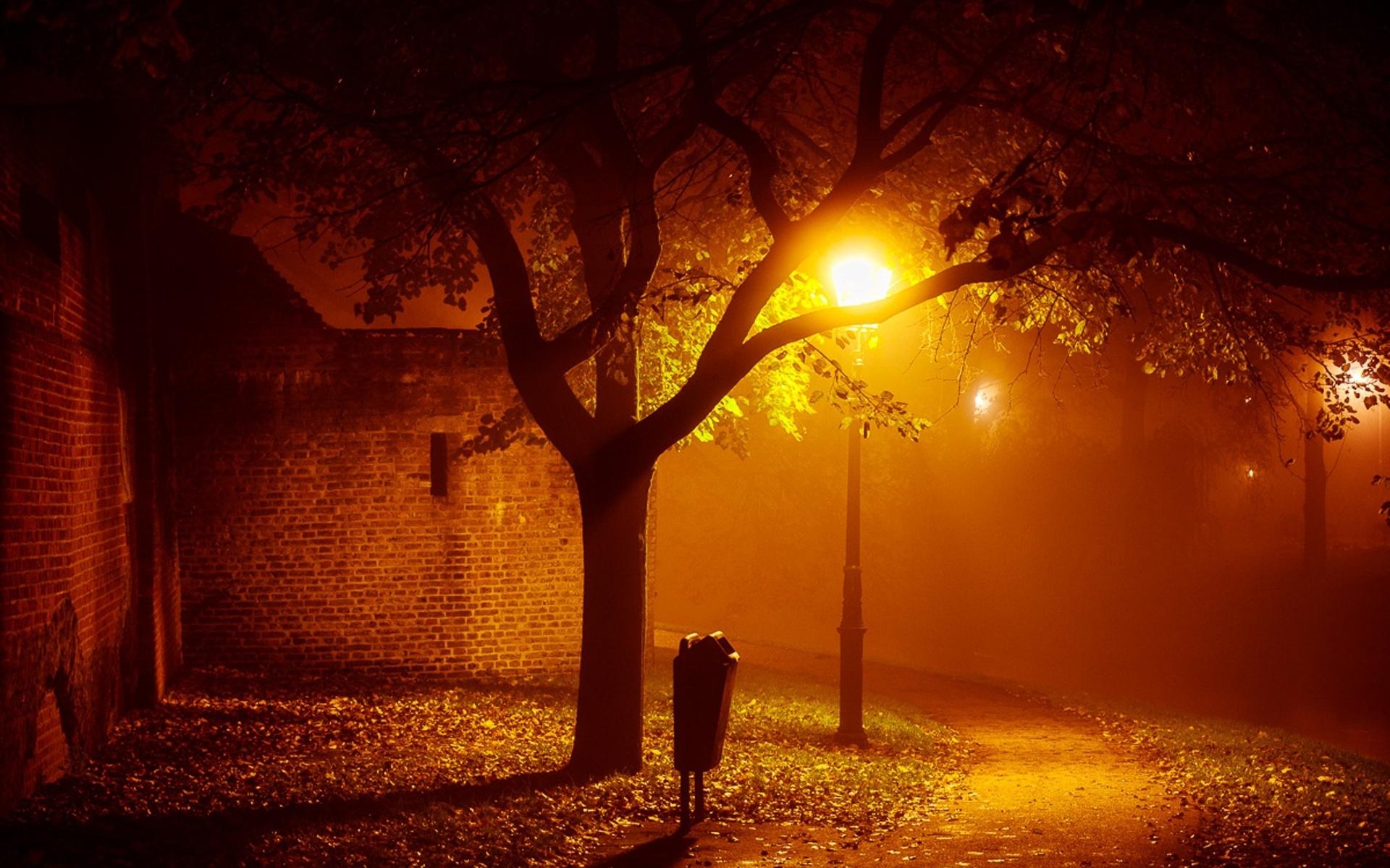 Франция дороги ночь фонари  № 2229361  скачать