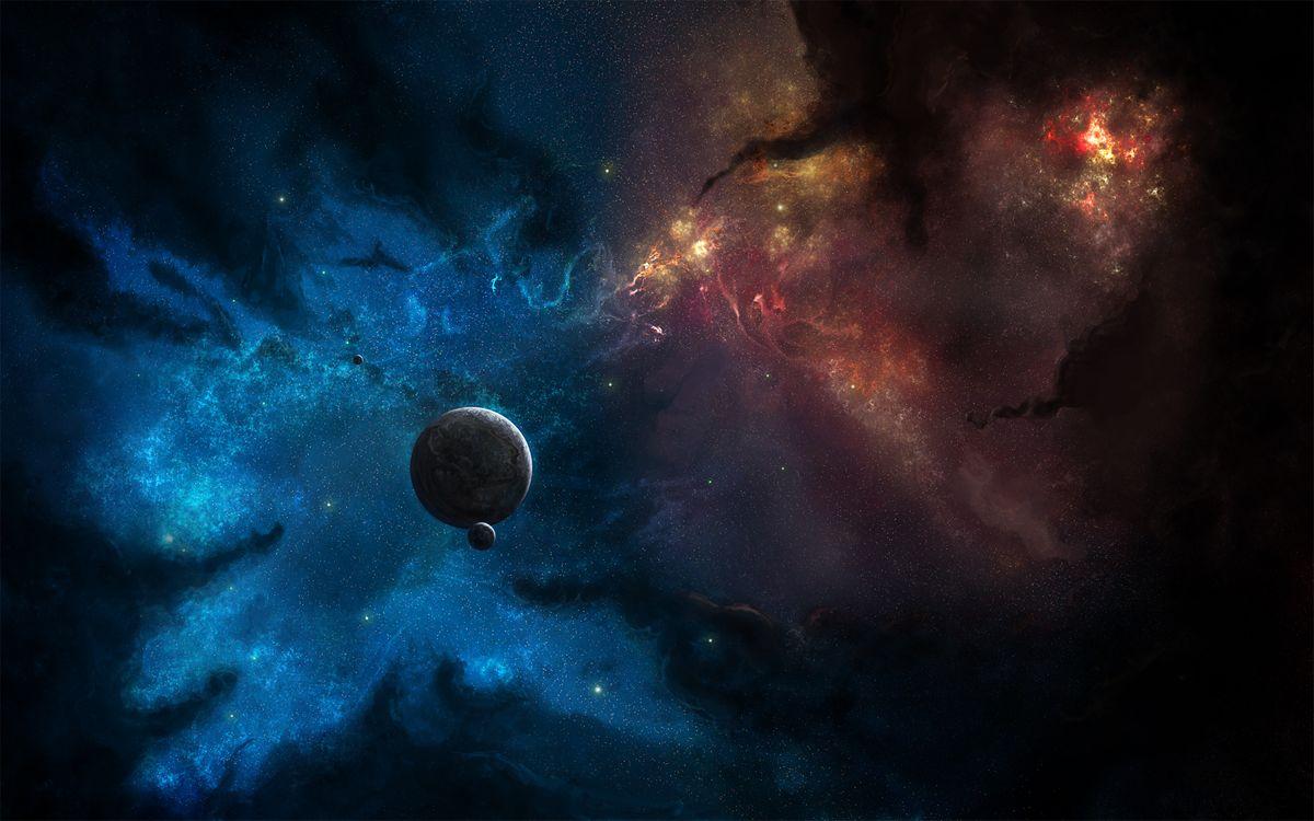 Фото бесплатно туманность, звезды, планеты - на рабочий стол