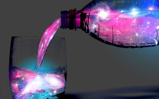 Фото бесплатно вода, бутылка, цвета