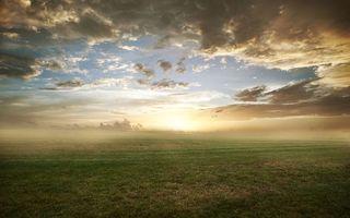 Заставки восход,солнца,небо,тучи,поле,простор,горизонт