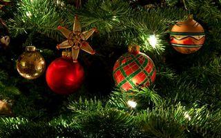 Бесплатные фото настроение,украшения,праздник,елка,гирлянда