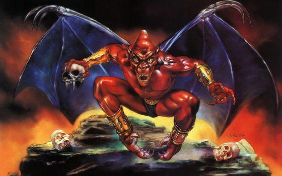 Фото бесплатно демон, красный, крылья