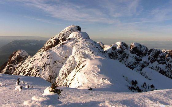 Фото бесплатно горы, холмы, зима, снег, мороз, холод, небо, облака, елки, север, природа