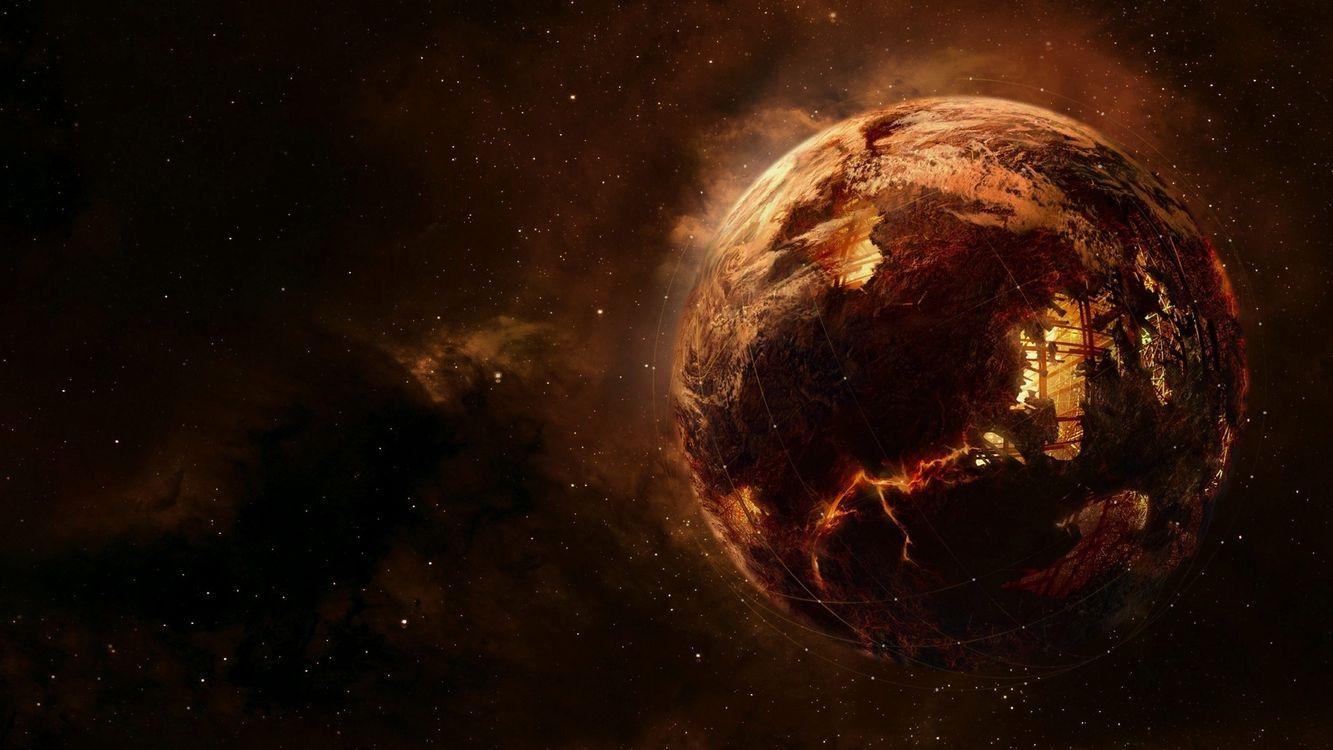 Фото бесплатно искусственная, полая, планета, космос, фантастика, фантастика