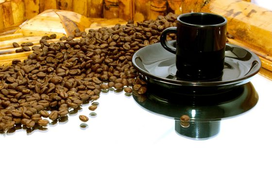 Photo free coffee, mirror, table