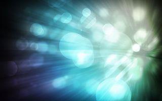Заставки круги, свет, блики, фон, синий, линии, лучи