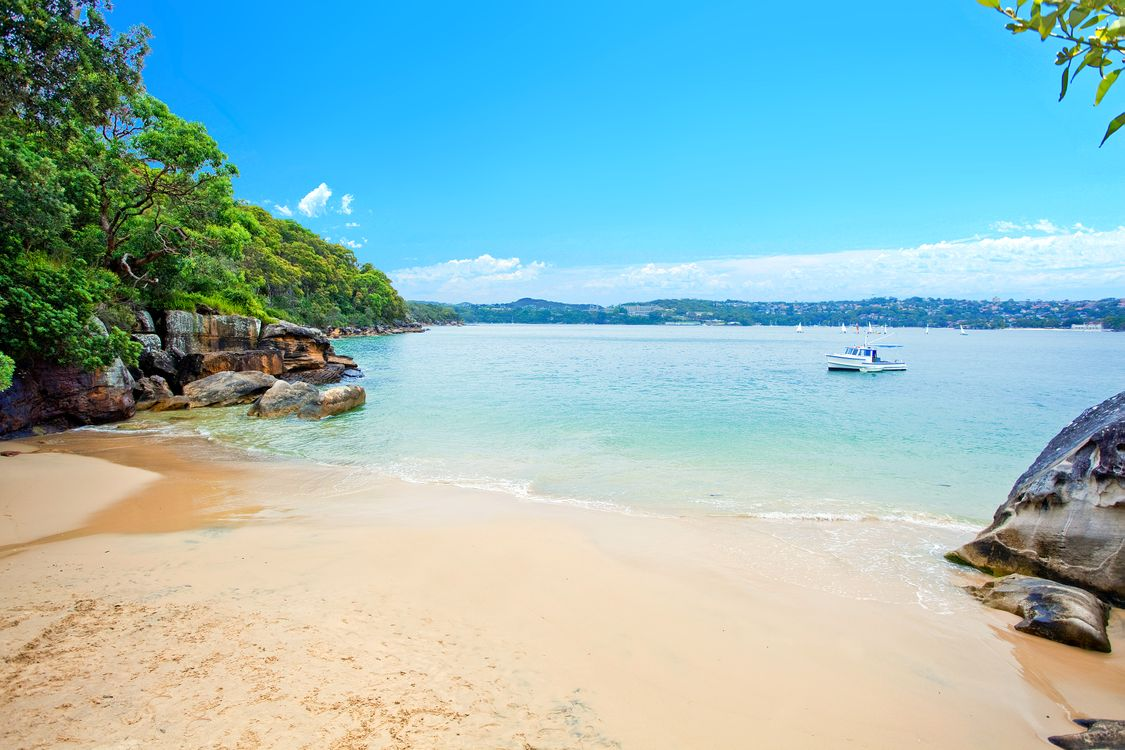 Фото бесплатно море, пляж, лодка, пейзажи, пейзажи