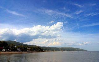 Бесплатные фото море,океан,вода,небо,облака,горы,холм