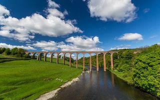 Фото бесплатно мост, река, зелень