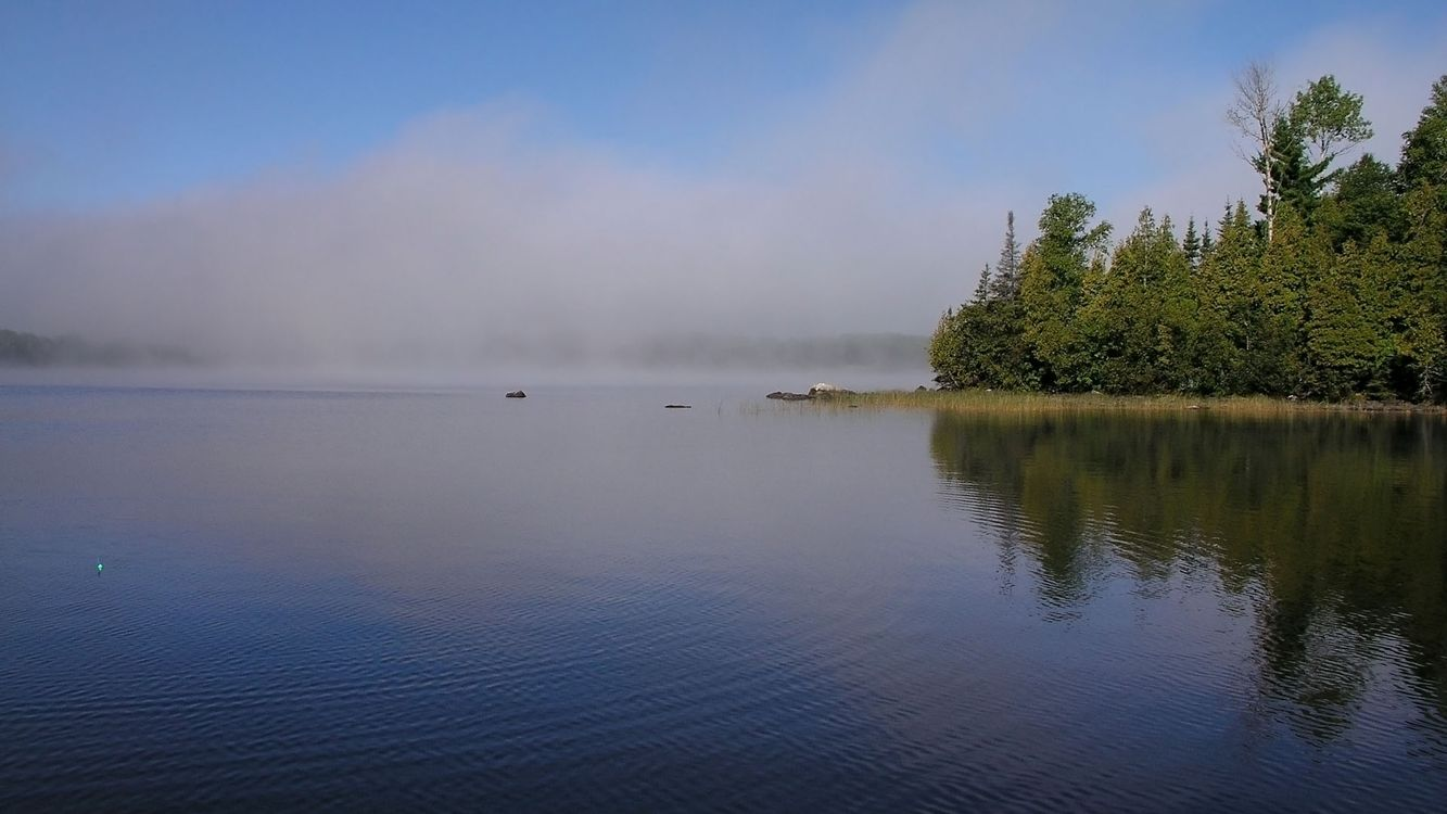 Фото бесплатно озеро, вода, деревья - на рабочий стол