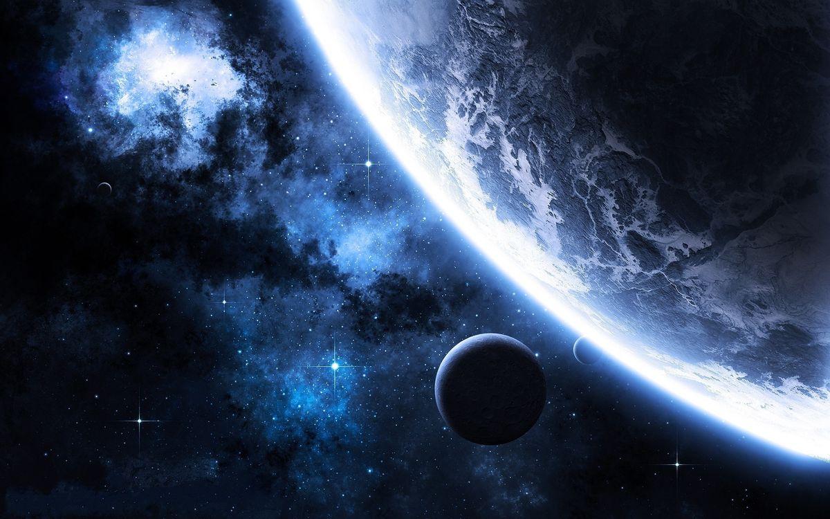 Фото бесплатно планеты, спутники, неизвестные, миры, галактика, звезды, млечный путь, космос, космос
