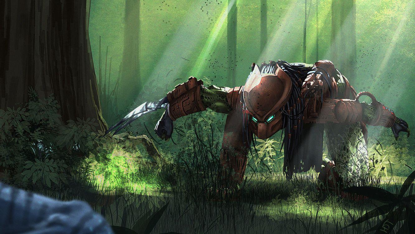 Фото бесплатно predator, blade, fantasy, green, фантастика, фантастика