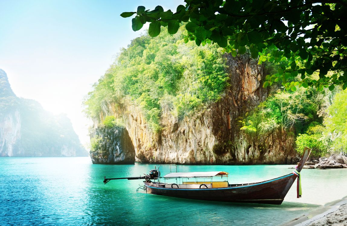Photos for free boat, rocks, thailand - to the desktop