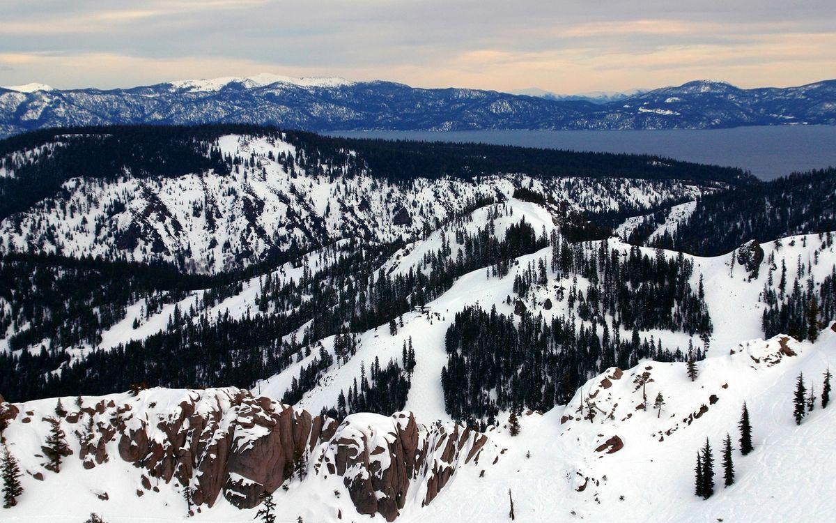 Фото бесплатно зима, горы, камни - на рабочий стол