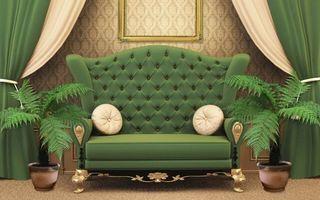 Фото бесплатно диван, комната, зеленый