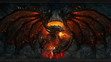 Фото бесплатно дракон, пламя, пасть