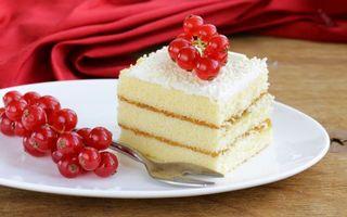Обои десерт, ягоды, смородина, вилка, стол, ткань, еда