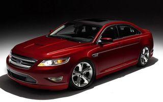Обои форд, красны, диски, шины, решетка, крыша, машины