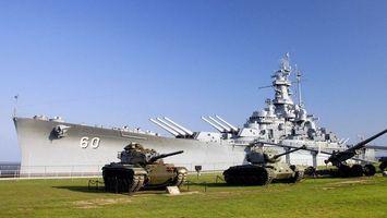Заставки корабль,пушка,авианосец,танки,гусеница,поле,оружие