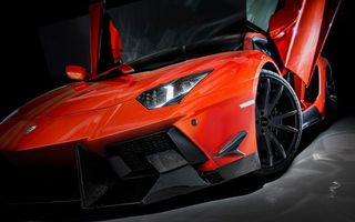 Photo free lamborghini, aventador, bright red