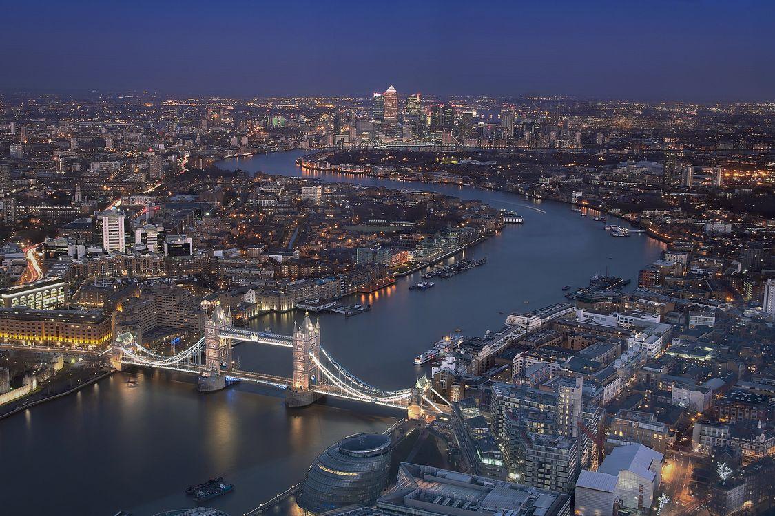 Фото бесплатно Лондон, Великобритания, ночь - на рабочий стол