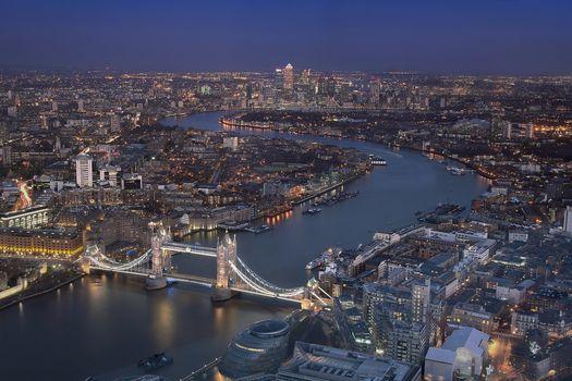 Заставки Лондон, Великобритания, ночь