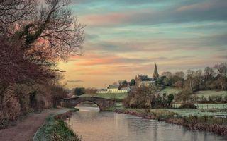 Бесплатные фото мост,река,вода,волны,набережная,деревья,ветки