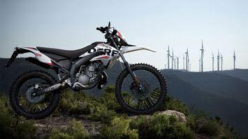 Фото бесплатно мотоцикл, кроссовый, гора