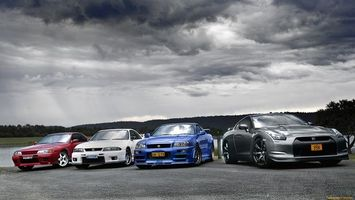 Бесплатные фото ніссан,скайлайн,поколение,разние,спортивние,синий,машины