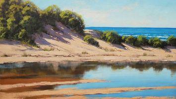 Бесплатные фото океан,остров,вода,зелень,деревья,небо,волны