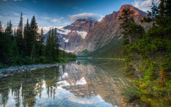 Фото бесплатно озеро кавелл, хвойный лес, камни