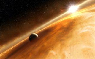 Заставки планета, солнце, туман