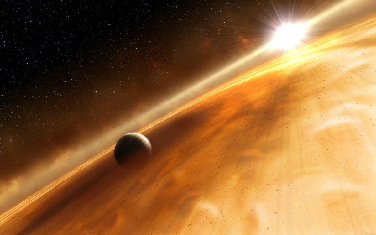 Обои планета, солнце, туман, газ, камни, звезды, галактика, свет, лучи, астероиды, космос на телефон   картинки космос