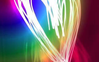 Фото бесплатно сердечко, линии, цвета, полоски, heart, line, абстракции