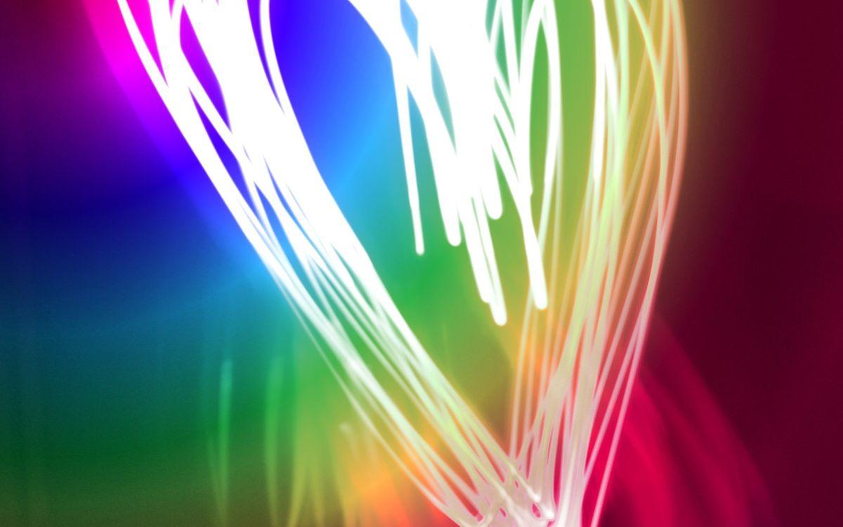 Фото бесплатно сердечко, линии, цвета - на рабочий стол