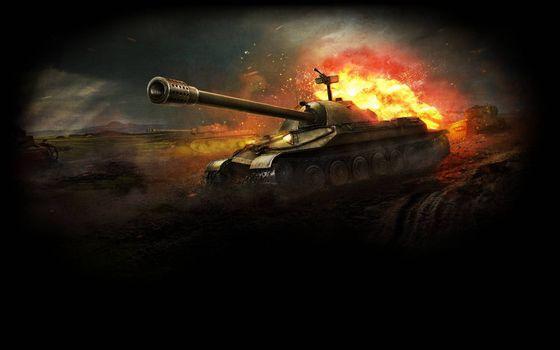 Бесплатные фото танк,дуло,башня,броня,бой,взрыв