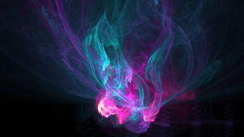 Заставки темно, линии, дым, разные, яркие, необычные, абстракции