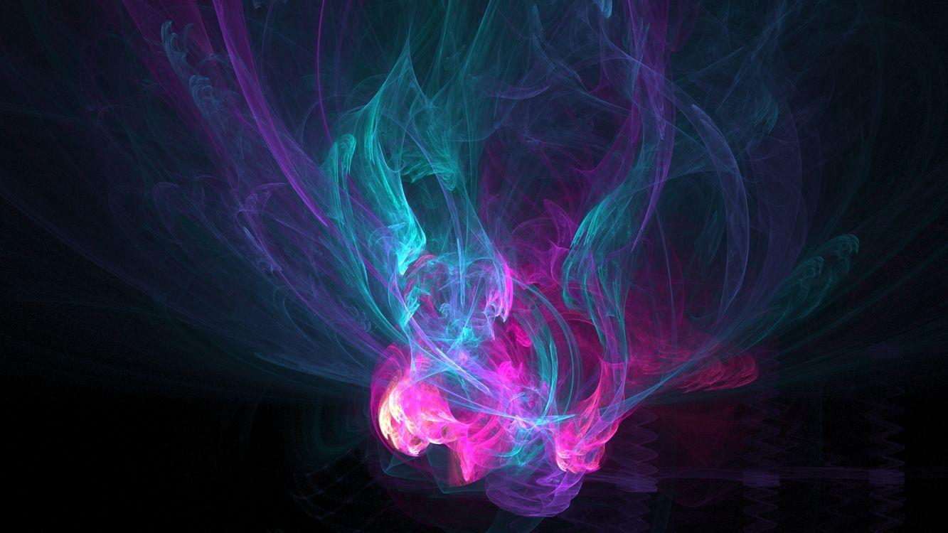 Фото бесплатно темно, линии, дым - на рабочий стол