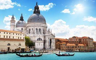 Фото бесплатно венеция, река, здание